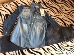 Рубашки джинсовые. Рост: 104-110, 110-116, 116-122 см