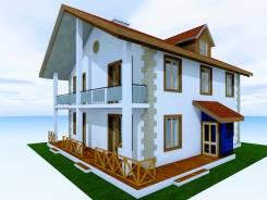 046 Z Проект двухэтажного дома в Куйбышеве. 100-200 кв. м., 2 этажа, 7 комнат, бетон