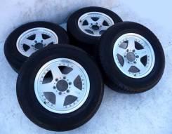 Диски Bridgestone на лете Dunlop 265x65xR17. 8.0x17 6x139.70 ET22 ЦО 110,0мм.