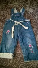 Полукомбинезоны джинсовые. Рост: 86-98, 98-104 см