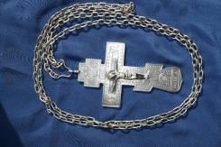 Крест наперсный серебряный с монограммой императора Николая II. 1896 г. Оригинал