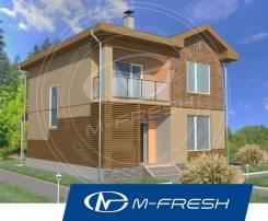 M-fresh Man (Посмотрите проект компактного 2-этажного дома). 100-200 кв. м., 2 этажа, 4 комнаты, бетон