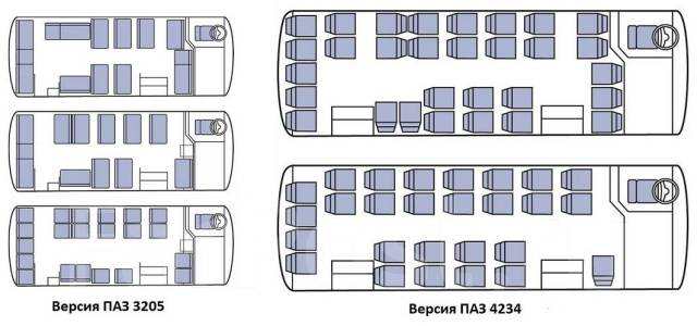 ПАЗ 4234. Автобус семейства ПАЗ 3205, ., 4 500 куб. см., 50 мест