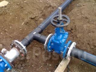 Подключение домов к сети водоснабжения, канализации. Монтаж колодцев.