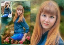 Обработка фото под живописный портрет