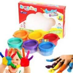 Краски пальчиковые.