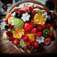 Обучение карвингу- фруктовые букеты! цветы из овощей и фруктов!