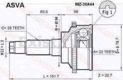 Шрус подвески. Mazda Xedos 6, CA Mazda Training Car, GF8P Mazda 626, GF Mazda Capella, GF8P, GFEP, GFER, GFFP, GW5R, GW8W, GWER, GWEW, GWFW Kia Mentor...
