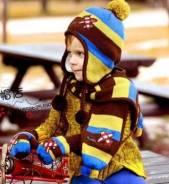 Шапка и шарф. Рост: 80-86, 86-98, 98-104, 104-110, 110-116 см