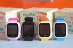 Детские часы Q90/GW100 с GPS и WiFi , цветной сенсорный экран.