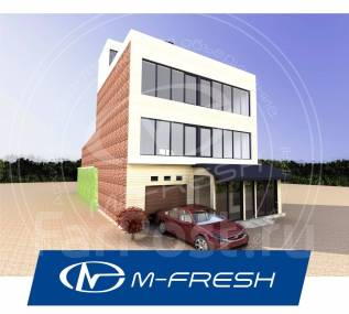 M-fresh Office building (Проект дома с инверсионной кровлей). 400-500 кв. м., 3 этажа, 5 комнат, кирпич