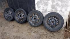 Комплект колес штамповки R14 5 x 114.3 и резина Brigestone. x14 5x114.30