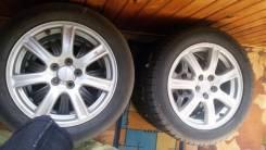 Продам комплект летних колес 205/55R16 диски Субару. x16 5x100.00
