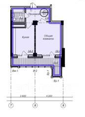 1-комнатная, улица Пионерская 1. Индустриальный, агентство, 51 кв.м.