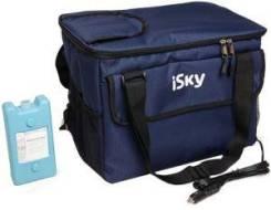 Холодильник автомобильный iSky, 24 л, сумка, с аккумулятором холода iSky iREF-24B