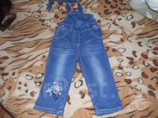 Полукомбинезоны джинсовые. Рост: 68-74, 74-80, 80-86 см