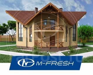 M-fresh OKO (Готовый проект дома со вторым светом. Посмотрите! ). 200-300 кв. м., 1 этаж, 4 комнаты, бетон