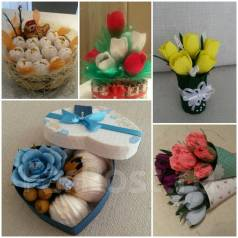 Букеты из конфет и сладкие подарки. Под заказ