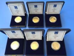 Коллекция золотых монет олимпиада Афины 2004 год ! 6 монет ! проба 999