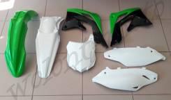 Комплект пластика Polisport KAWASAKI KX450F 2013-15 ЗЕЛЕНО-БЕЛЫЙ 90545