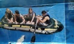 Надувная лодка 4х местная