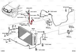 Трубка кондиционера. Toyota Harrier, MCU36, MCU36W, MCU31, MCU30, MCU35 Двигатель 1MZFE