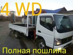 Mitsubishi Canter. Продам Mitsubishi Fuso Canter 4WD с крановой установкой 2т, 4 900 куб. см., 3 000 кг.