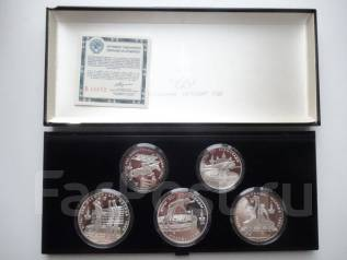 Олимпиада-80 набор №3 (выше) 1978 г. ЛМД, серебро, пруф, сертификат.