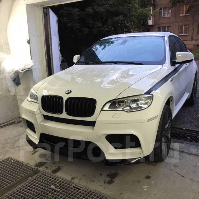 Накладка на бампер. BMW X6, E71. Под заказ