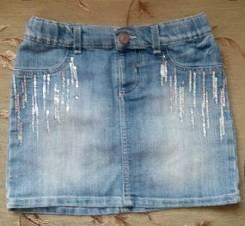 Юбки джинсовые. Рост: 134-140 см