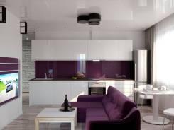 Дизайн 1 комн. квартиры 38м с перепланировкой для пары. Тип объекта квартира, комната, срок выполнения месяц