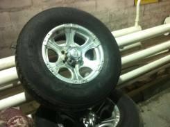 Комплект колес на джип в отличном состоянии на летней резине!. 8.0x16 6x139.70 ET0