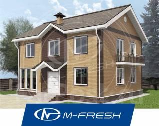 M-fresh Art Hall-зеркальный (Проект дома с угловым витражом! ). 200-300 кв. м., 2 этажа, 6 комнат, каркас