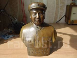 Бюст Мао Цзэдун бронза в кепке. Оригинал