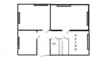 3-комнатная, проспект Красного Знамени 99. Толстого (Буссе), агентство, 62 кв.м. План квартиры