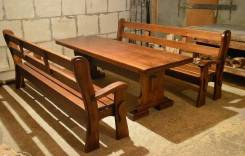 Мебель из массива на заказ для улиц, беседок и дома. Под заказ