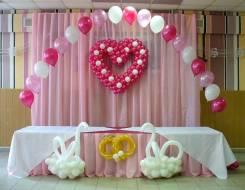 Оформление свадьбы воздушными шарами, шары на запуск