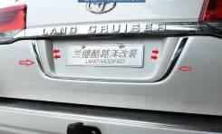 Накладка на дверь багажника. Toyota Land Cruiser, UZJ200W, VDJ200, URJ202W, URJ200, URJ202, UZJ200. Под заказ