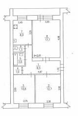 3-комнатная, улица Менделеева 7. хор, агентство, 63кв.м.