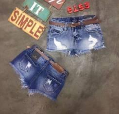 Шорты джинсовые. Рост: 80-86, 86-98, 98-104, 104-110, 110-116, 116-122, 122-128, 128-134, 134-140, 140-146 см
