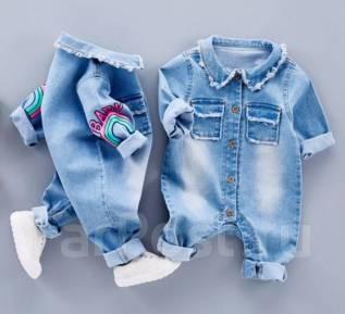 Комбинезоны джинсовые. Рост: 60-68, 68-74, 74-80, 80-86 см. Под заказ