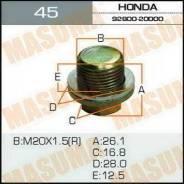 Болт маслосливной Honda 20х1.5 Masuma 45 9280020000,402625PA0A