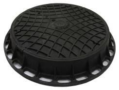 Люк канализационный Gidrolica Garden - пластиковый тип Л черный