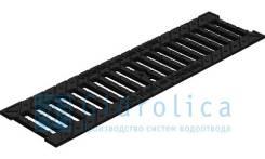 Решетка водоприемная Gidrolica Standart РВ -10.13,6.50 - щелевая чугунная ВЧ, кл. С250