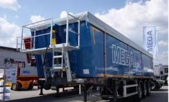 MEGA. Новый алюминиевый самосвальный полуприцеп 28 m3, 35 000 кг.