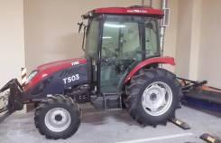 TYM T503 CAB. Трактор, отвал, щётка