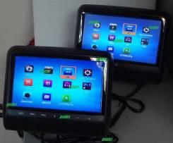 Подголовник с DVD сенсор 2штуки в АВТО DVD/USB/SD/Game (черный)