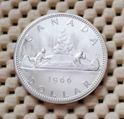 Канада 1 доллар 1966г. UNC Ag800 Штемпельный блеск