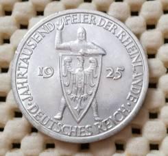 Веймар (Германия) 3 марки 1925г. AU Ag900 Штемпельный блеск
