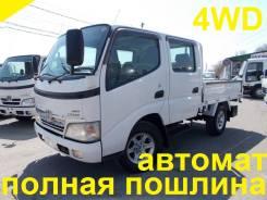"""Toyota Dyna. 4WD, двухкабинник + """"автомат"""", 3 000 куб. см., 1 500 кг."""